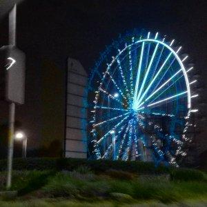 Two Rivers Mall Ferris Wheel - Night View 1