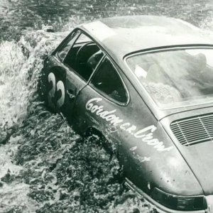 A Porsche 911 car no. 22 driven by Edgar Hermana and Gerd Elvers